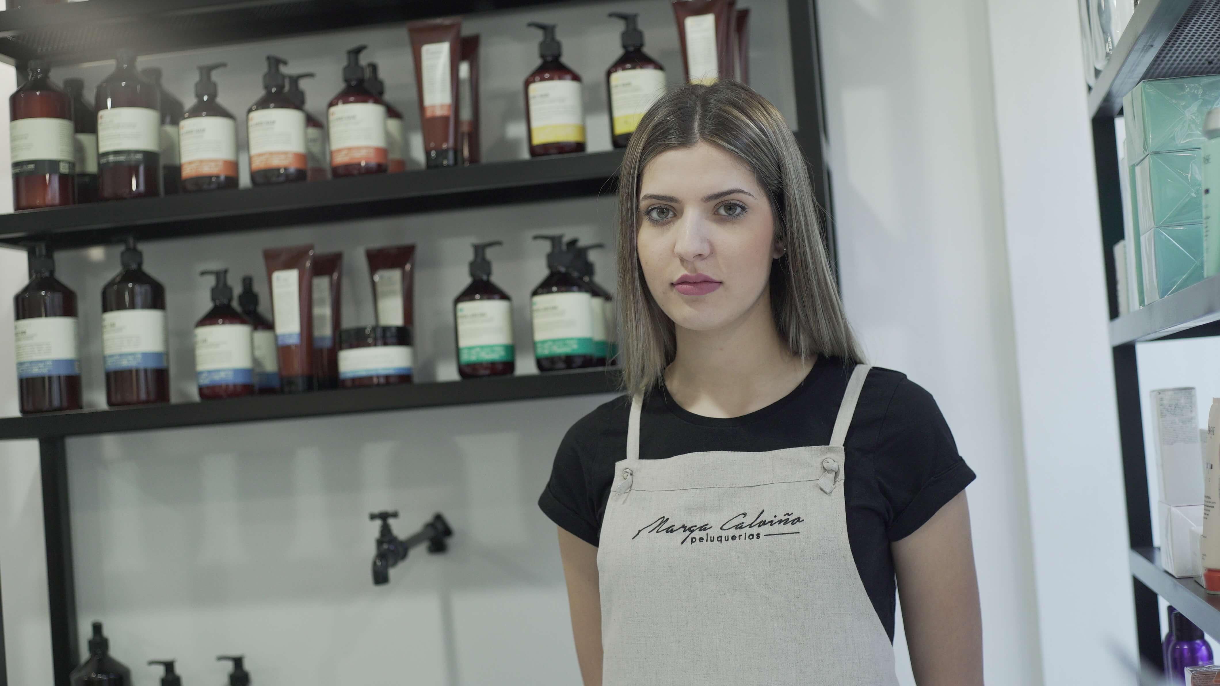 Detalle delantal personalizado Marga Calviño