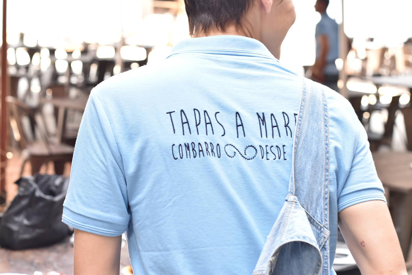 Detalle camiseta O Peirao